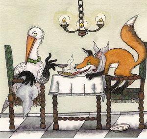 """Képtalálat a következőre: """"A róka és a gólya"""""""