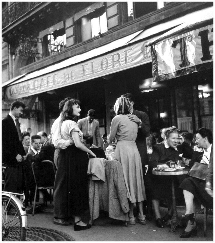 Robert Doisneau, Café de Flore, Párizs, 1947