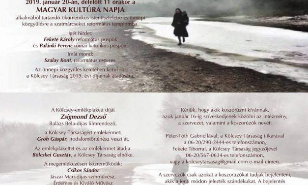 Zsigmond Dezső filmrendezőt és Gróh Gáspár irodalomtörténészt díjazza a Kölcsey Társaság