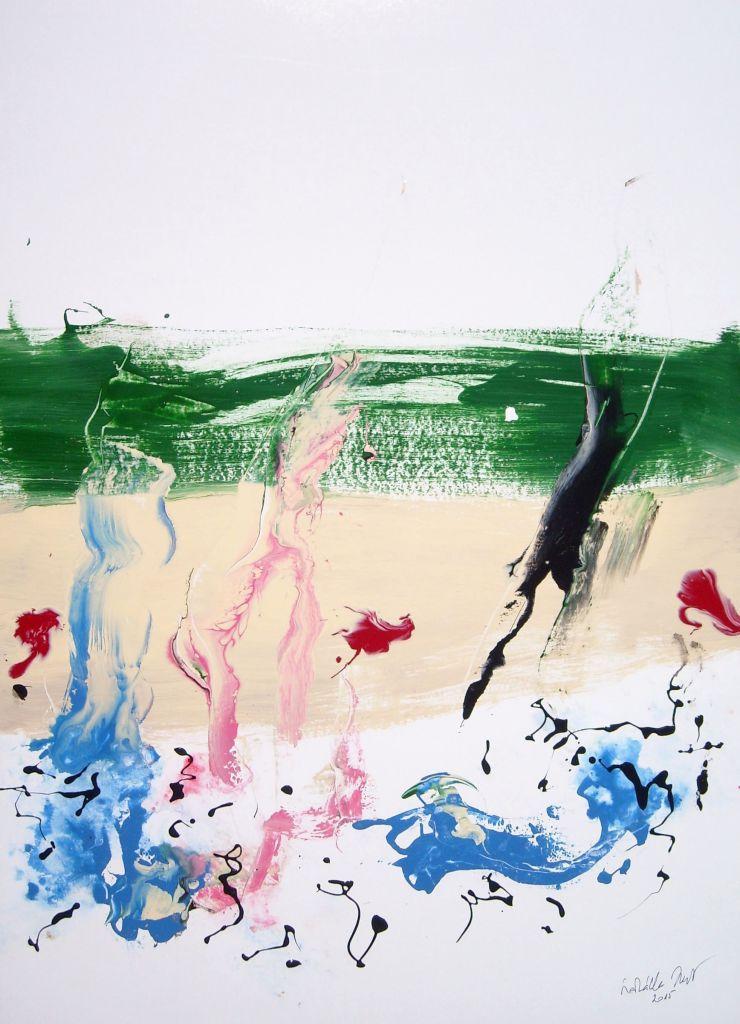 A rugók sziluettje lehanyatlik - Szakállas Zsolt festménye
